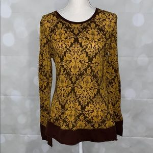 💥5/$25💥Maurices Long Sleeve Waffle Print atop